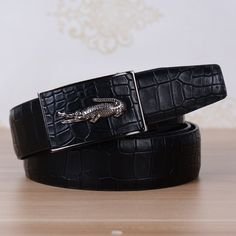 Epacket New Arrived Alligator Grain Leather Mens Belts High Quality The Most Fashionable Belt for Men Wholesale Price