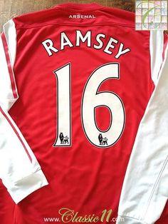 3079ccc1f19 2011 12 Arsenal Home Premier League Football Shirt Ramsey  16 (S)