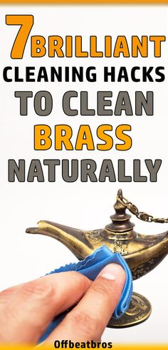Cleaning Brass in not an easy task but these 7 ways will make brass cleaning easy and help you to clean brass naturally. So, clean that brass figure today! Household Cleaning Tips, House Cleaning Tips, Green Cleaning, Diy Cleaning Products, Cleaning Hacks, Cleaning Brass, Hotel Housekeeping, Arm And Hammer Super Washing Soda, How To Clean Brass