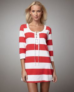 81d3ca1ccf Tommy Bahama Striped Coverup on shopstyle.com Swim Cover Ups, Beach Cover  Ups,