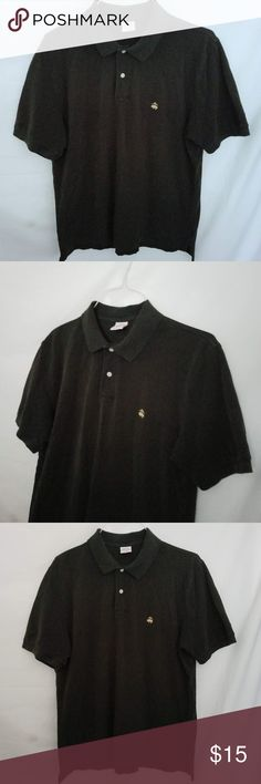 dc6468cd Brooks Brothers Golden Fleece Polo Shirt Large Black polo shirt with two  button placket (this