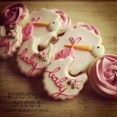 Baby shower cookies by Grunderfully Delicious