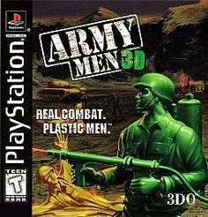 Army Men 3D real combat plastic men Sony PlayStation 1, 1999 RARE PS 1 game Teen