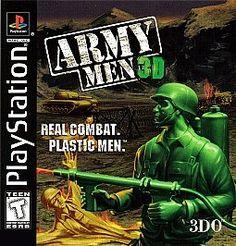 Army Men 3D real combat plastic men Sony PlayStation