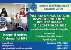 Curs perfectionare Inspector Resurse Umane www.idru.ro