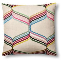 Check out this item at One Kings Lane! Assisi 22x22 Pillow, Multi