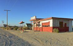 Movie set east of Lancaster, CA