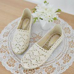 Espadrille Crochet Slip-Ons http://koreanfashionworld.com/product/espadrille-crochet-slip-ons http://koreanfashionworld.com