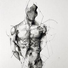 ericlacombe:  Étude / 30x40 cm/ paper