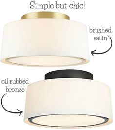 LOVE this simple but chic flush mount ceiling light - one of my favorites in this post! #flushmountkitchenlighting
