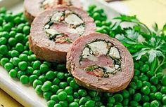 Pork Tenderloin Stuffed with Spinach, Feta and Bacon