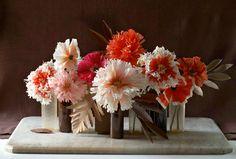 Petite paper flowers