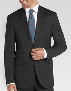 Perry Ellis Portfolio Charcoal Slim Fit Suit
