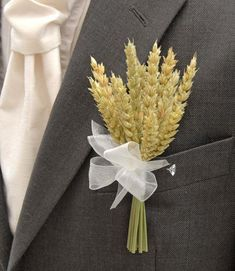 A stunning artificial dried natural wheat wedding day grooms buttonhole. Finished here with an ivory organza ribbon bow but this can be changed to suit your colour scheme. Wheat Wedding, Wedding Groom, Rustic Wedding, Wedding Day, Wedding Paper, Floral Wedding, Wedding Flowers, Bridesmaid Flowers, Wedding Bouquets