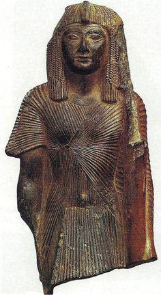 Estatua de Set I como portaestandarte. R.Nuevo, XIX Din. El Cairo, Museo Egipcio.