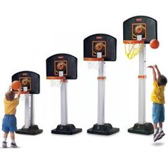 I love the Fisher Price I Can Play Basketball Hoop because it grows right along with your child, it ranges from 3′ to 6′.  Gift Ideas for Boys