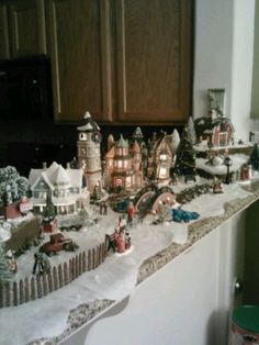 Christmas Village!!! Bebe'!!! Really beautiful display of a Department 56 village!!!