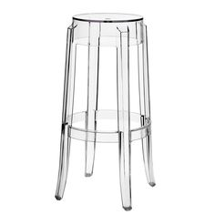 The Charles ghost style bar stool is a clear acrylic bar stool with a foot rail for comfortable sitting. The Casper bar stool looks great by itself, or dressed up with a top cushion. The silhouette-inspired design of this bar stool is a sure attention-gra Home Bar Furniture, Classic Furniture, Cool Furniture, Modern Furniture, Acrylic Furniture, Furniture Ideas, Italian Furniture, Industrial Furniture, Vintage Furniture