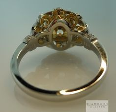 yellow diamond filigree ring