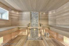 Myynnissä - Omakotitalo, Uusikylä, Tampere #oikotieasunnot #sauna #kiuas Sauna Ideas, Sauna Steam Room, Bathroom Stuff, Saunas, Pj, Stretches, Massage, Interior Decorating, Home Decor