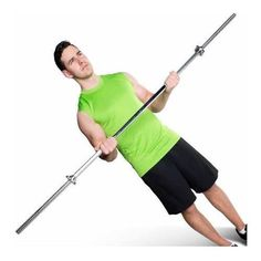 Barbell 6' Straight Bar w/ Threaded Ends Solid Steel Bodybuilding Bench Fitness #CAPBarbell