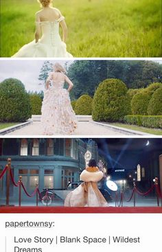 TAYLORS MUSIC VIDEOS THROUGH THE YEARS. Love Story//Blank Space// Wildest Dreams
