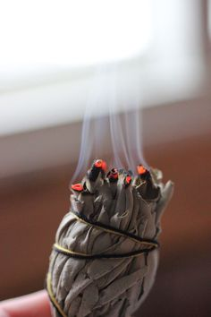 If you have a lot of extra sage on your hands or cleanse/smudge your home a lot & want to save some money, I'll show you how to make smudge sticks at home Reiki, Spiritual Pictures, Spiritual Quotes, Burning Sage, Cleanse Me, Smudge Sticks, Chakra Balancing, Love Your Home, How To Protect Yourself