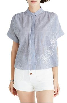 Main Image - Madewell Embroidered Hilltop Shirt