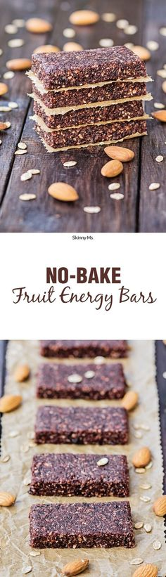 These No Bake Fruit Energy Bars are the perfect grab-n-go snack for lasting energy! They're just like healthy fruit roll-ups!