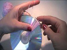 Anleitung - Mit einer CD eine Tasche häkeln 1 - YouTube