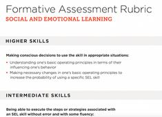 SelfAssessment Inspires Learning  Emotional Development
