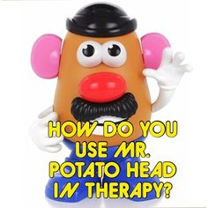 Recently, I have seen a couple of posts here on Instagram about using Mr. & Mrs. Potato Head in therapy. It is well known that they are an old favorite, but everyone uses them differently. How do YOU use them in speech-language or occupational therapy? What concepts do YOU target? Let's see how many different ideas we can collect and share!!