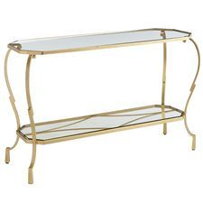 Chasca Rectangle Console Table - Gold