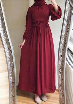 Hijab Prom Dress, Long Gown Dress, Modest Fashion Hijab, Fashion Dresses, Muslim Women Fashion, Hijab Fashion Inspiration, Hijab Style, Feminine Dress, Lovely Dresses
