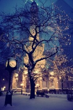 beautiful chicago winter