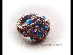 """tutorial come fare un anello """"Agrippina"""" piu' fascetta per anello velocissima (beads tutorial)"""
