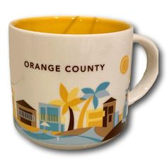 Starbucks Coffee Mug You Are Here Collection Orange County Vintage Coffee Cups, Unique Coffee Mugs, Starbucks Coffee, Orange County, Etsy, Collection, Starbox Coffee