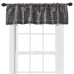 Threshold™ Faux Silk Color Update Valance Sometimes a valance is all you need in a kitchen or bathroom.
