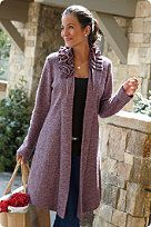 Heather Plum Wool topper. So beautiful. Found at Soft Surroundings!