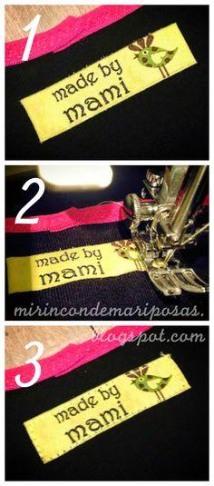 mi rincón de mariposas: Tutorial: cómo colocar etiquetas/cintas en la ropa