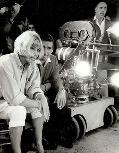Doris Day and Rod Taylor on the set of The Glass Bottom Boat, 1966, directed by Frank Tashlin.