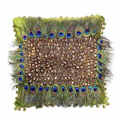 Our home décor DIYs, trend alerts & inspiration posts will help you transform any space, accessory & furniture to match your desired look. Peacock Pillow, Feather Pillows, Diy Pillows, Linen Pillows, Throw Pillows, Peacock Colors, Peacock Feathers, Home Decor Trends, Pillow Design