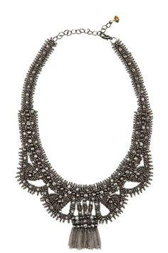 Embellished Liz Statement Necklace