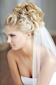 #high #bun #bride #hair #blonde