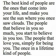 The once in a lifetime kind of #people…. #quotes & # inspiration ;) It's not about finding someone to lose yourself in, it's about meeting someone to find yourself in. When you connect with someone special – a friend or lover – this person helps you find the best in yourself. In this way, neither of you actually meet the best in the each other; you both grow into your best selves by spending time together and nurturing each other's growth. | best stuff