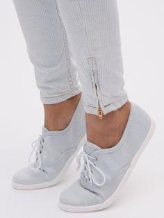 Unisex Denim Tennis Shoe | American Apparel