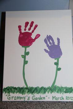 "Handprint Flowers for ""Grammy's Garden"""