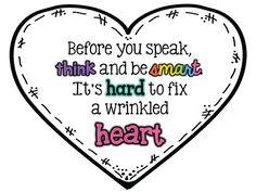 Keepin' It Kool In KinderLand: Wrinkled Hearts + Freebie! Heart for Chrysanthemum Beginning Of The School Year, First Day Of School, Back To School, School Stuff, Middle School, Kindness Activities, Book Activities, Bullying Activities, Primary Activities