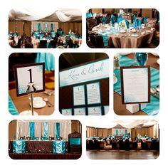 #wedding #decor teal & brown colour palette inspiration.