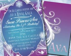 Frozen Invitation  Frozen Birthday Party by Hottomatoink2 on Etsy, $14.00